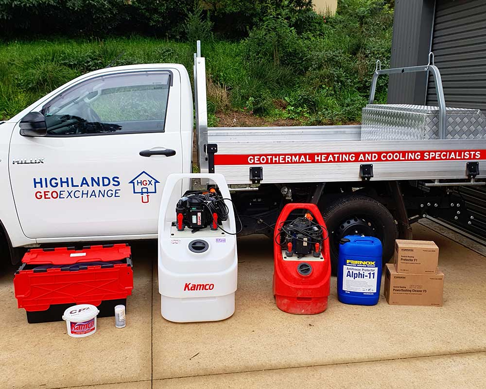 Hydronic Servicing and Power Flushing, Highlands Geo Exchange